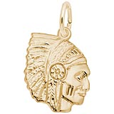 14K Gold Native American Charm by Rembrandt Charms