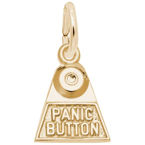 10K Gold Panic Button Charm by Rembrandt Charms