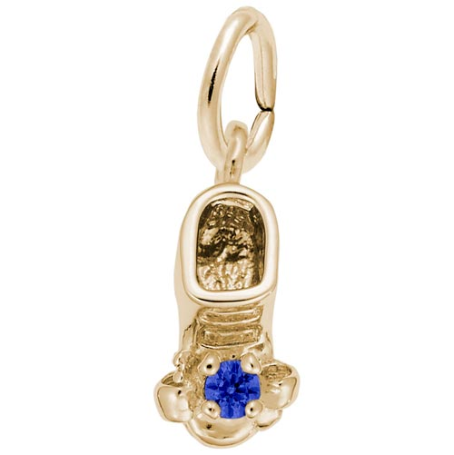 Gold Plate Birth Month 09 Sep Bootie Accent by Rembrandt Charms