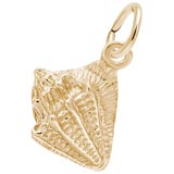 14K Gold Small Conch Shell Charm by Rembrandt Charms