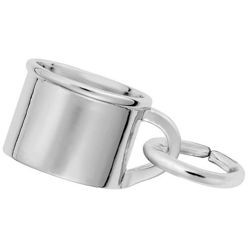 14K White Gold Baby Cup Accent Charm by Rembrandt Charms