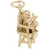 Gold Plate Highchair Charm by Rembrandt Charms