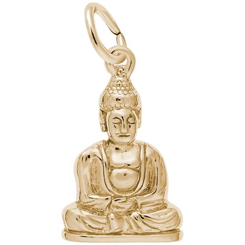 Gold Plate Meditation Buddha Charm by Rembrandt Charms