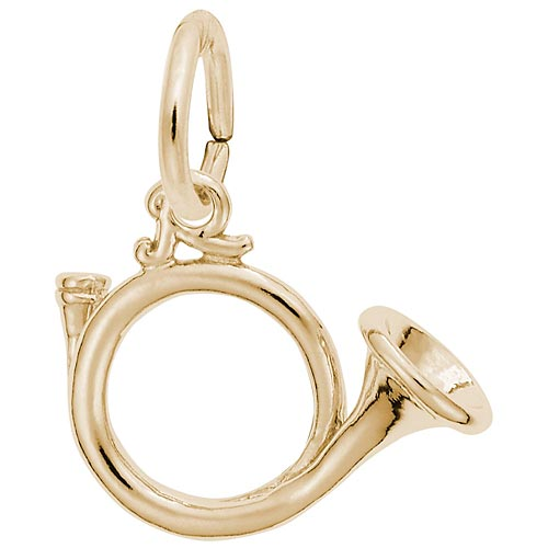 10K Gold Hunting Horn Charm by Rembrandt Charms