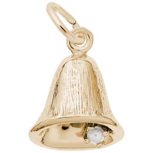 14K Gold Small Bell Charm by Rembrandt Charms