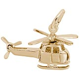 10K Gold Small Helicopter Charm by Rembrandt Charms