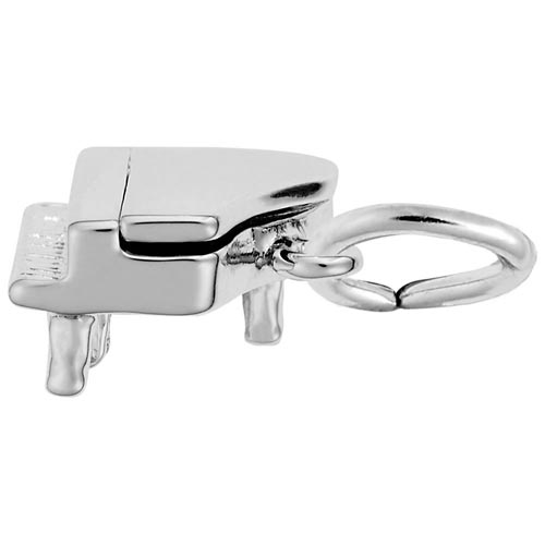 14K White Gold Petite Piano Charm by Rembrandt Charms