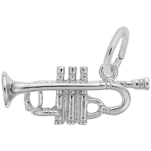 Sterling Silver Trumpet Charm by Rembrandt Charms