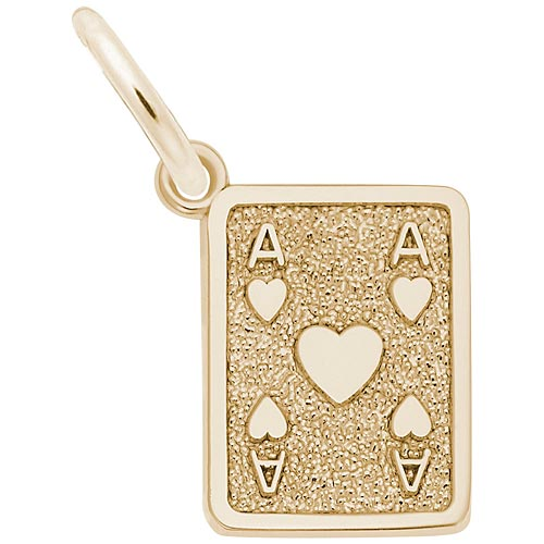 Gold Plate Ace of Hearts Charm by Rembrandt Charms