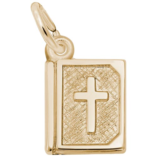 Gold Plate Bible Accent Charm by Rembrandt Charms