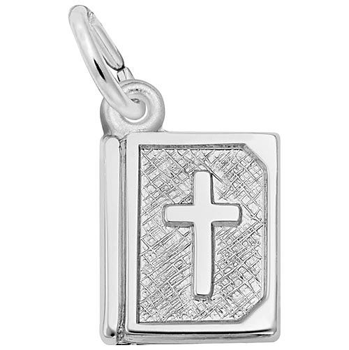 14K White Gold Bible Accent Charm by Rembrandt Charms