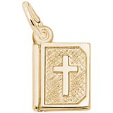 14K Gold Bible Accent Charm by Rembrandt Charms