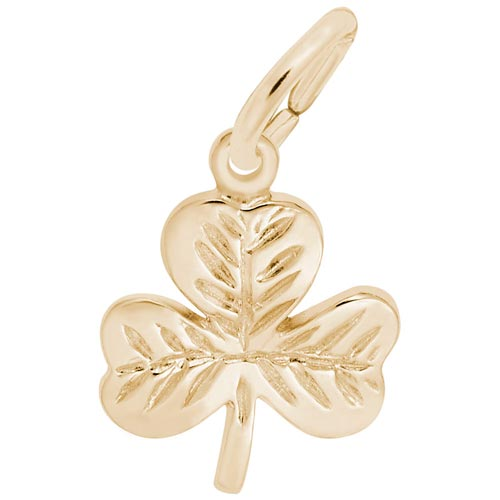 10K Gold Shamrock Charm by Rembrandt Charms