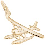 Gold Plate Seaplane Charm by Rembrandt Charms