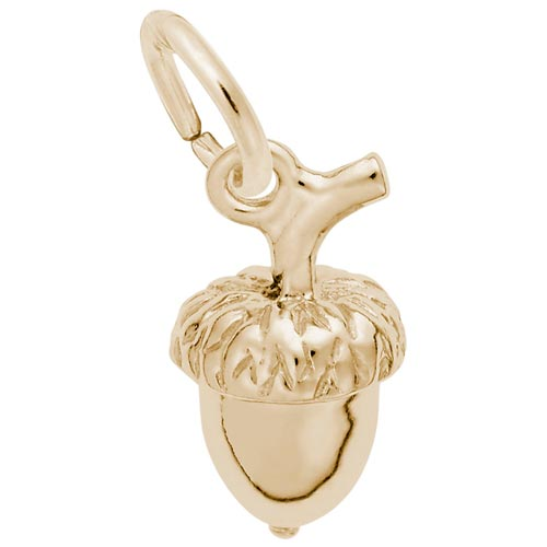 Gold Plate Acorn Accent Charm by Rembrandt Charms