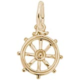 10K Gold Ship Wheel Charm by Rembrandt Charms