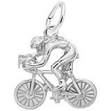 Rembrandt Cyclist Charm, 14k White Gold