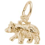 14k Gold Black Bear Accent Charm by Rembrandt Charms