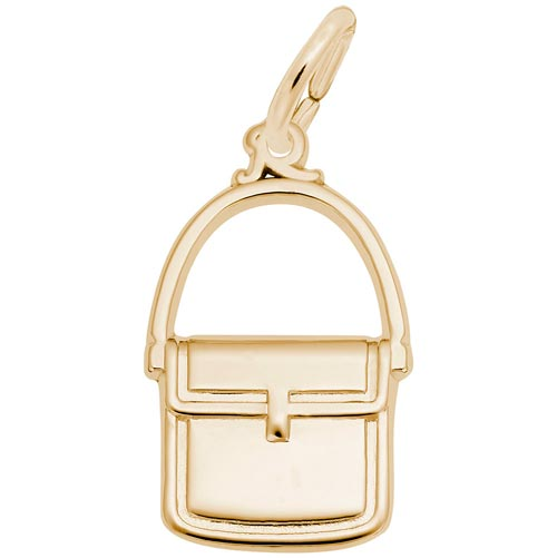 Gold Plated Messenger Purse Charm by Rembrandt Charms