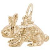 14k Gold Rabbit Charm by Rembrandt Charms