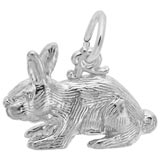 14K White Gold Rabbit Charm by Rembrandt Charms
