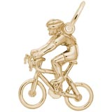 14K Gold Bicycle Cyclist Charm by Rembrandt Charms
