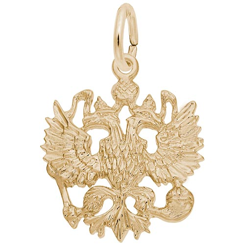14K Gold Russian Eagle Charm by Rembrandt Charms
