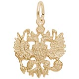 Gold Plated Russian Eagle Charm by Rembrandt Charms