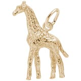 Gold Plate Giraffe Charm by Rembrandt Charms