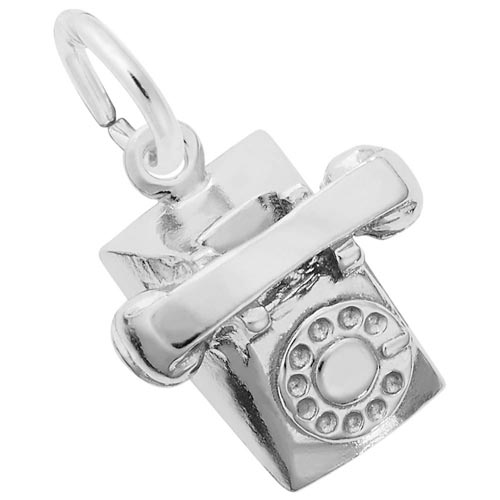 Sterling Silver Rotary Phone Charm by Rembrandt Charms