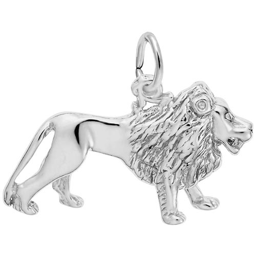 14K White Gold Lion Charm by Rembrandt Charms