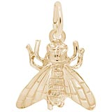 Gold Plate Fly Charm by Rembrandt Charms