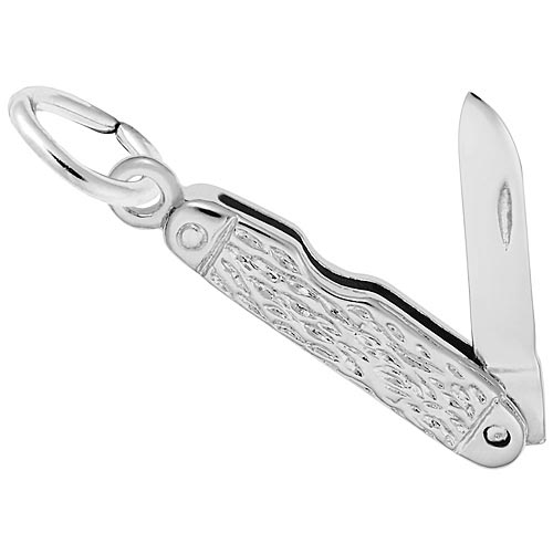 Sterling Silver Pocket Knife Charm Pendant by Rembrandt Charms