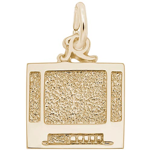 10K Gold Flat Screen TV Charm by Rembrandt Charms