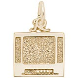 Gold Plated Flat Screen TV Charm by Rembrandt Charms