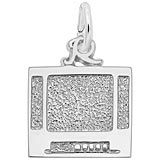 14K White Gold Flat Screen TV Charm by Rembrandt Charms