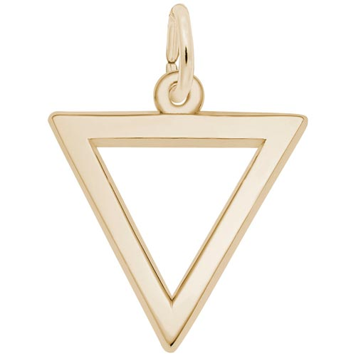 Gold Plate Triangle Trinity Charm by Rembrandt Charms