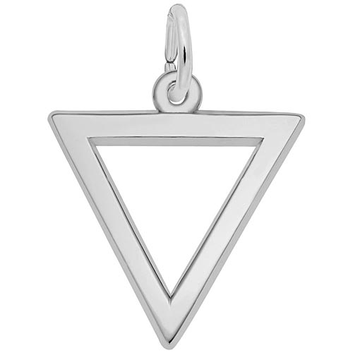 14K White Gold Triangle Trinity Charm by Rembrandt Charms