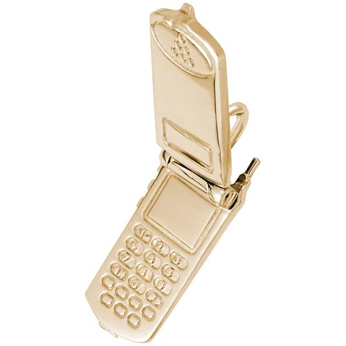 14K Gold Cell Phone Charm flips open by Rembrandt Charms