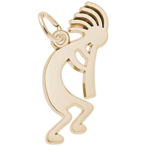 14K Gold Kokopelli Charm by Rembrandt Charms