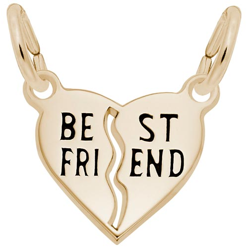 Gold Plated Best Friend Heart Charm by Rembrandt Charms