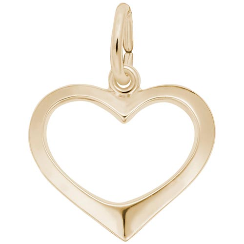14K Gold Open Heart Charm by Rembrandt Charms