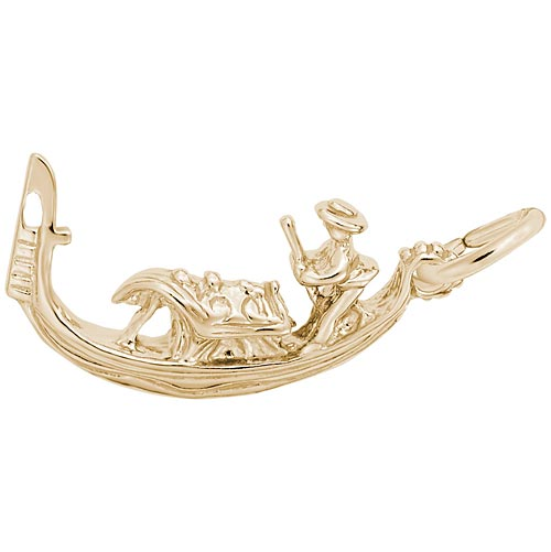Gold Plate Gondola Boat Charm by Rembrandt Charms