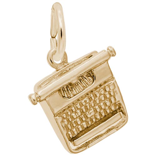 10k Gold Typewriter Charm by Rembrandt Charms