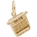 Gold Plated Typewriter Charm by Rembrandt Charms