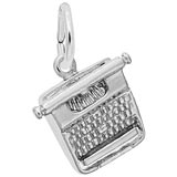 14k White Gold Typewriter Charm by Rembrandt Charms