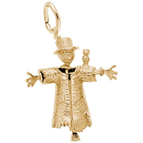 Gold Plate Scarecrow Charm by Rembrandt Charms