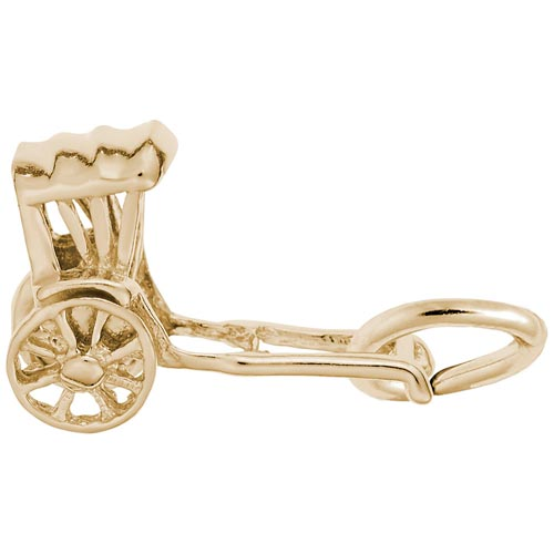 Gold Plate Rickshaw Charm by Rembrandt Charms