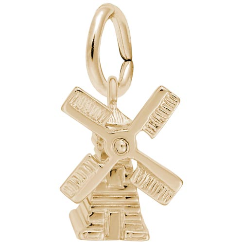 10K Gold Windmill Charm by Rembrandt Charms