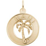 10k Gold Maui Palm Tree Charm by Rembrandt Charms